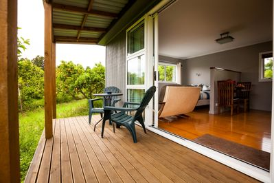 private deck with outside furniture