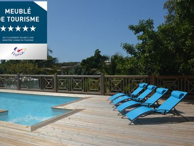 Photo for MAGNIFICENT 5 * VILLA WITH SECURE SWIMMING POOL AND SPLENDID TROPICAL GARDEN