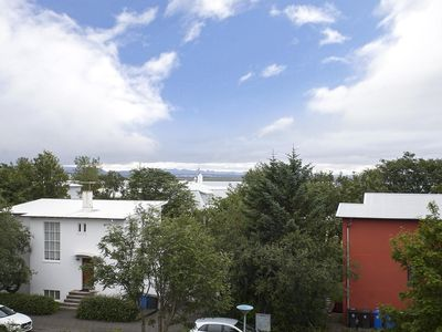 Photo for Centrally located apartment with sea views