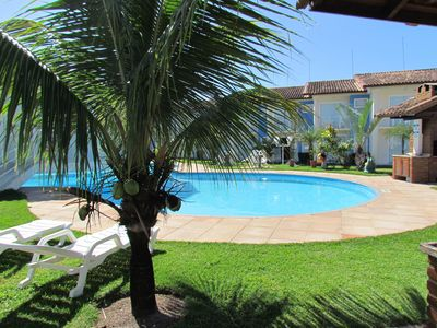 Photo for Excellent apartment with swimming pool in a condominium 700mt from the beach of Taperapuan