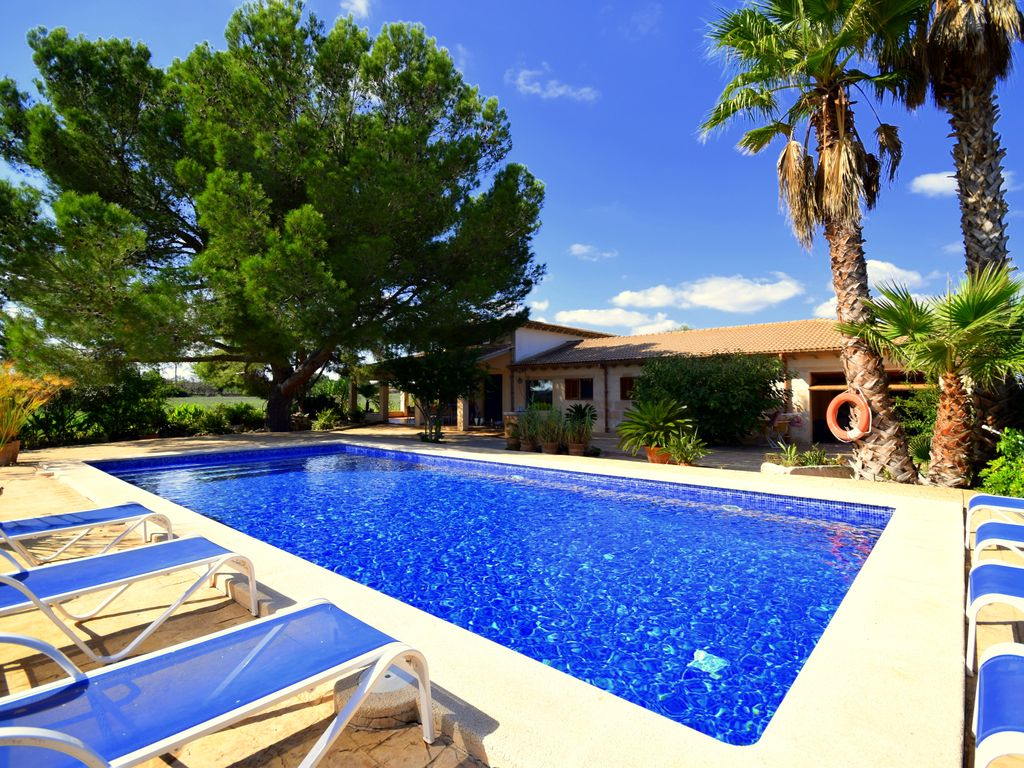 Modern Classic Country House Surrounded By Fruit Trees With Pool, Near The  Beach, Climate
