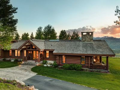 Photo for Magnificent Log & Stone Gros Ventre Home - Unparalleled Grand Teton Views!