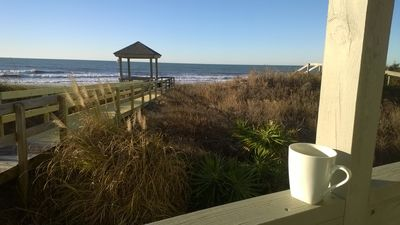 Having your morning coffee on the deck looking out at the ocean - priceless!