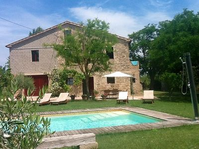 Photo for Beautiful Stone Farmhouse & Private Pool large garden & Free wifi. Sleeps 8.