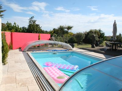Photo for 3 * flat for 4 people with indoor heated pool