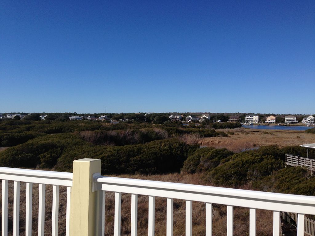 Ocean And Icw Views With Private Access To Beach Topsail Beach Topsail Island North Carolina