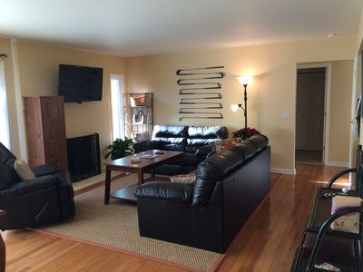 flat screen tvs over fireplace perfect place in pinehurst newly renovated homeaway pinehurst