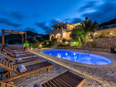 Photo for The luxurious Villa Armos is located on the mountainside in Skinari of Zakynthos