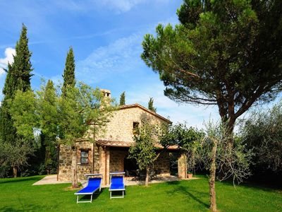 Photo for Villetta Cipresso is part of large farm house with sharing pool, 1 bedroom and 2 bathrooms