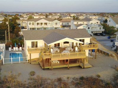 Photo for Stunning views from this 7 bedroom, oceanfront home with private pool, hot tub & game room
