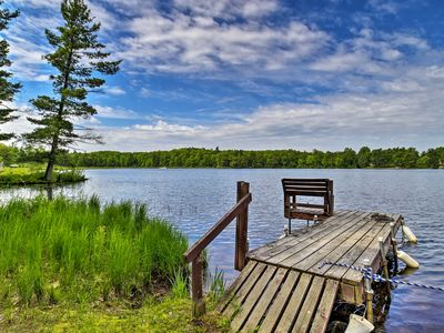 Photo for NEW! Burns Lake Cabin w/Dock, Pontoon Boat & More!