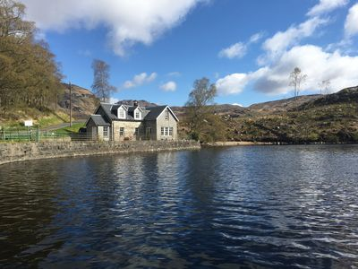 Photo for Idyllic waterfront stone cottage, set in an secluded corner of Loch Katrine