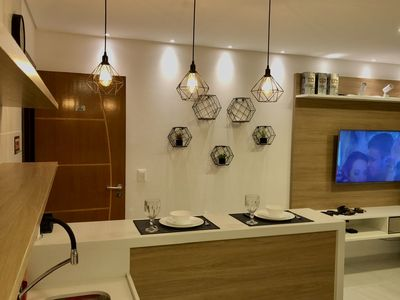 Photo for Apartment 30m from Bessa beach - João Pessoa  Flat for 4 people  Complete
