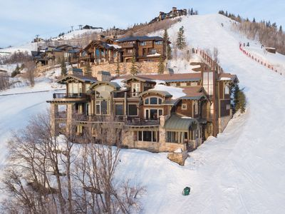Photo for REDUCED WINTER RATES! Ski-in ski-out villa with theater, pool table, hot tub, fitness suite, outdoor