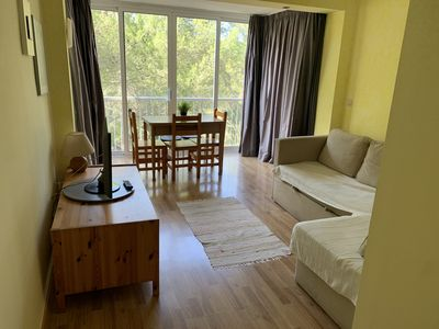Photo for 1 bedroom apartment 8min walk from the beach + pool