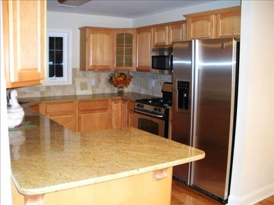 Granite Kitchen with New Stainless Appliances