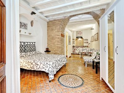 Photo for A studio apartment (max three people) in the Piazza Navona area in Rome, minutes from The Vatican, P