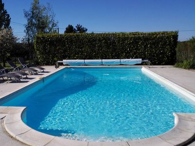 Large salted swimming pool