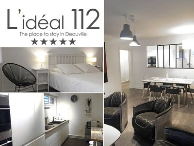 Photo for IDEAL 112 ***** (82m2, 2 bedrooms + parking) Deauville Hypercentre