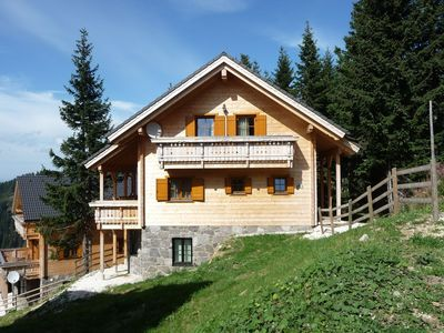 Photo for Luxury detached chalet with inhouse wellness in skiresort Koralpe