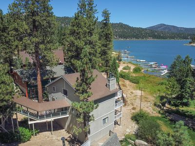 Photo for Papoose Shores: Lake Views! Boat Dock! Hot Tub! Air Hockey! Multiple Decks! Wood Floors! Cable TV!