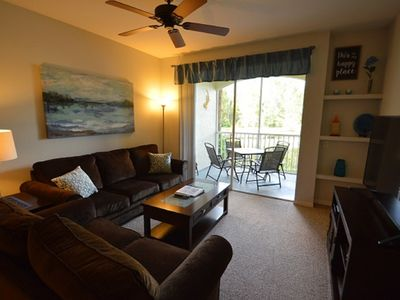 Photo for Legacy Dunes, Lake View, ground floor, minutes to Disney, gym, HEATED pool!