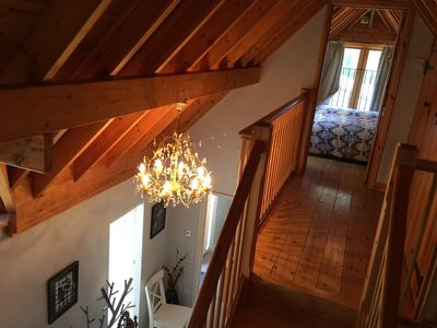 Vaulted staircase to the bedrooms