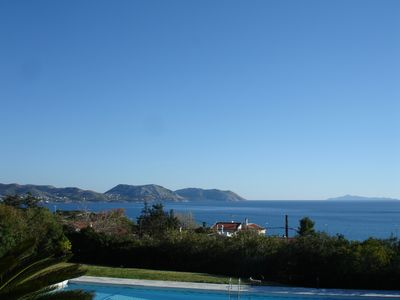 Photo for Family friendly villa with private pool & basketball -5min walk to the beach