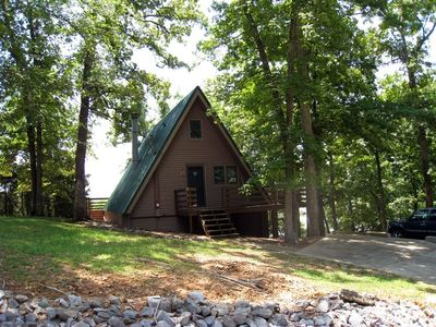 Photo for Charming Waterfront a-Frame Overlooking Lake Barkley.