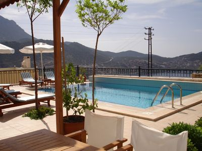 Photo for Beautifully situated luxury villa, unspoilt sea views from all 5 balconies