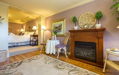 Imperial Jacuzzi Suite has a sitting area, two TV's and two electric fireplaces