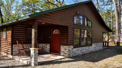 """Photo for NEWLY REMODELED """"A Charmed Life"""" Luxury 2-Bed 2-Bath Cabin w/ Hot Tub"""