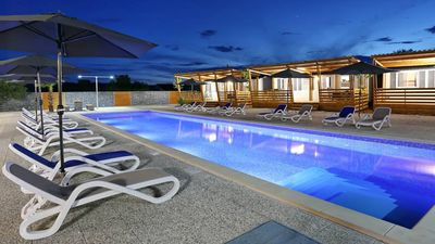 Photo for Holiday home / mobile home with 20m pool by the sea in Croatia, great location !!!