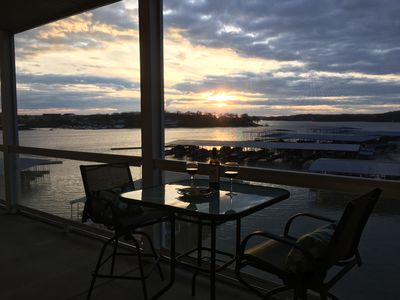 Enjoy a glass of wine and watch the beautiful sunset.