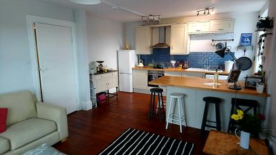 Photo for Recently refurbished central apartment with sea views