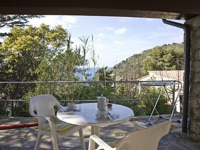 Photo for Small but nice apartment with terrace at few meters from the beach of Forno