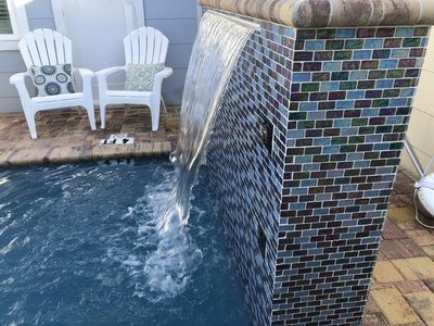 Photo for Gorgeous 'Villa Mojito' Beach Villa! Steps to Beach! Pool with scenic waterfall