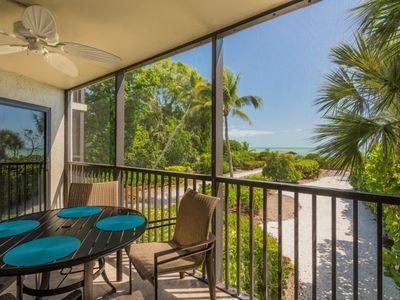 Photo for Gulf Front ! Serene, Remodelled Two Bedroom Two bathroom Condo- Sayana