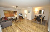 The apartment was very comfortable, and quiet. Generally clean. Close to university and the