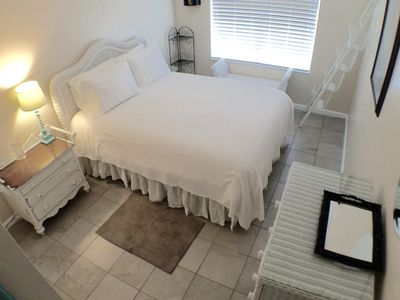 Comfortable Queen bed. Amble closet and drawer space
