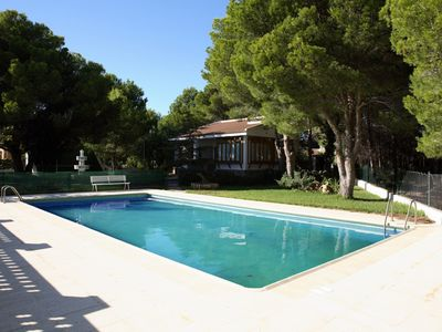 Photo for HOUSE WITH A BIG GARDEN, HUGE SWMING-POOL,BEACH DOWNSTAIRS,BBQ AND WIFI_TORRENTE
