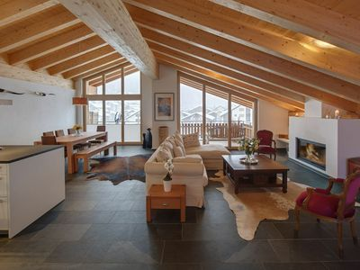 Photo for CHALET ZORA - Luxury  3 Bedroom Penthouse with Balcony and Matterhorn Views