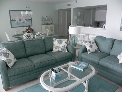 Photo for Exceptional  Long Beach OCEAN FRONT  2 BR   ** Free Beach Chairs & WIFI  **