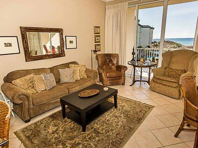 Photo for Enjoy Views of the Beach and Lagoon Pool from Your Private Balcony! Beachfront Condo in Seagrove Beach