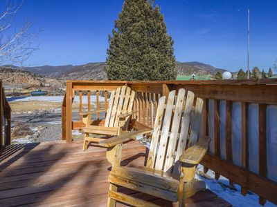 Photo for Cozy lodge cabin w/ shared hot tubs, access to year-round outdoor fun - dogs ok!