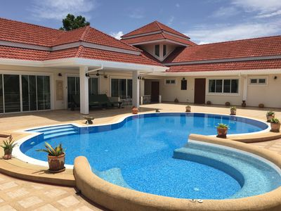 Photo for Beautiful 5 Bedroom house in a secure Pattaya village , + private swimming pool