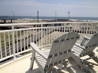 Photo for Unreal Location - Step out onto the boardwalk in this beachfront home.