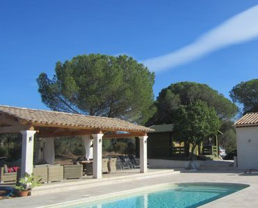 Photo for Villa with heated pool and extra-large terrace, in the silence of nature reserve