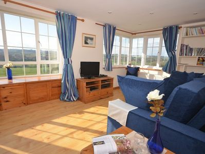 Lounge area with far reaching countryside views