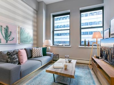 Photo for Mod Tribeca 1BR w/ Gym, Doorman + Rooftop garden by Blueground
